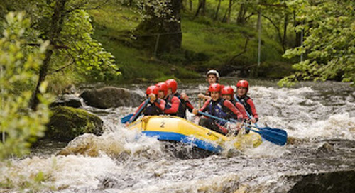 National White Water Rafting on the River Tryweryn