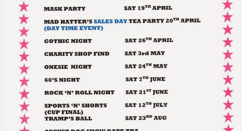 COMING EVENTS 2014 AT WHITBY HOLIDAY PARK