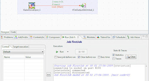 Using Talend to Export Data from Salesforce.com