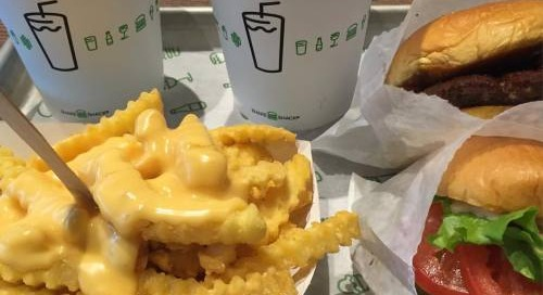 @shakeshack #cheese #fries #burgers and of course #shakes #yummy...