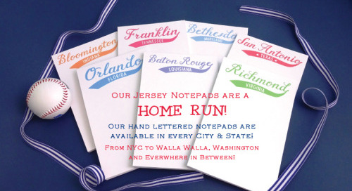 Made in the USA, our Jersey Notepads are a HOME RUN! Available...