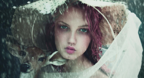 wmagazine:  Winter Beauty Photograph by Paolo Roversi; styled by...