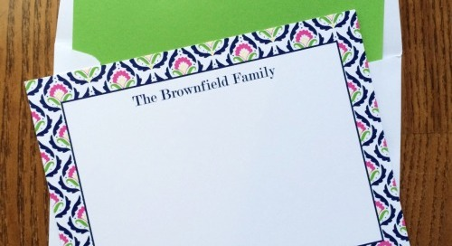 Loving this design, one of our *NEW* floral border flat...