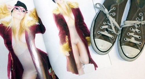 Own @jessejane #wardrobe @Converse from @STRIPLVMAG shoot....
