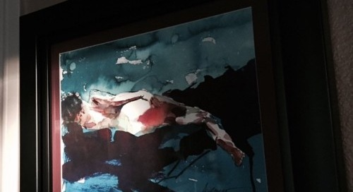 Henry Asencio original that he painted for me #love #art #talent...