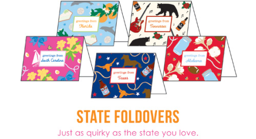 Our state foldovers notes are packed with personality! Swing by...