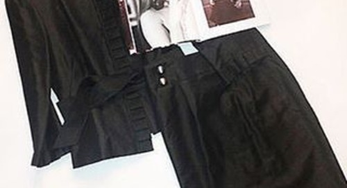 Own @xoGeorgiaJones #AntonioMelani #wardrobe from @STRIPLVMAG...