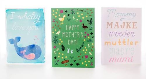 New for Spring 2015: Mother's Day cards by #donovandesigns...