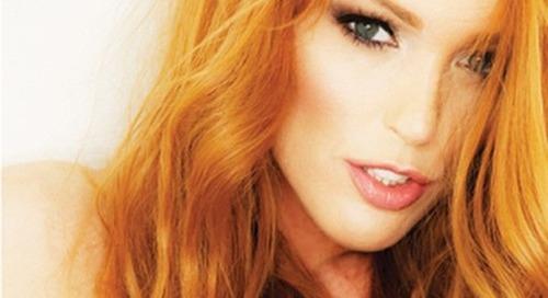 @jennyblighe in new @striplv1 #ginger #striplvmag #striptease...
