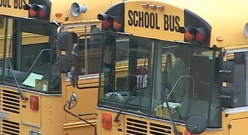 Boy and girl involved in fight on school bus