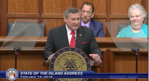 Governor Calvo delivers his final State of the Island Address