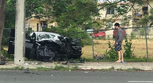 Tamuning car crash sends man to ER