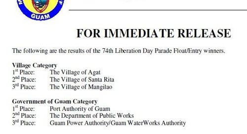 Agat, Port Authority take top honors in float/entry competition