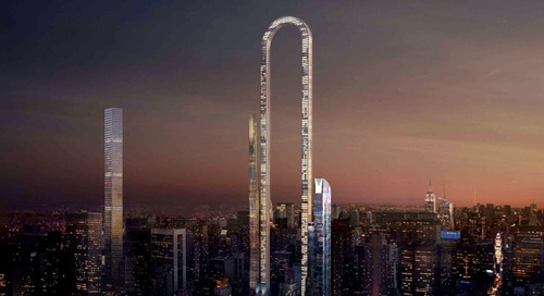 "The Big Bend: Architects Envision ""World's Longest Skyscraper"" for New York City"