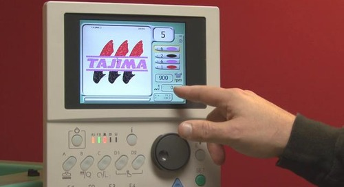 Tajima M-Series Control Panel:  Button A