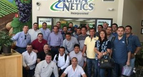 HUMA GRO Training for Distributors and Clients from Peru and Mexico
