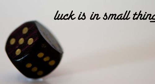 How to Make Your Own Luck in a Biochemistry Lab
