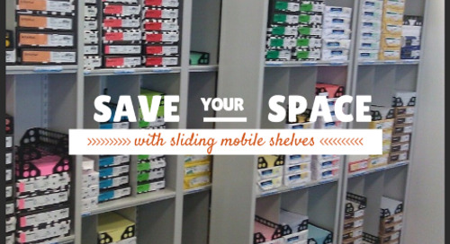 Sliding Mobile Shelves for Space Saving Office Storage