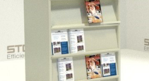 Literature Display Shelving for Library Periodicals & Magazines