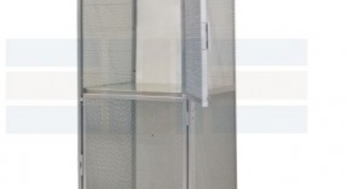 Wire Mesh Bulk Lockers for Apartment Tenant Storage