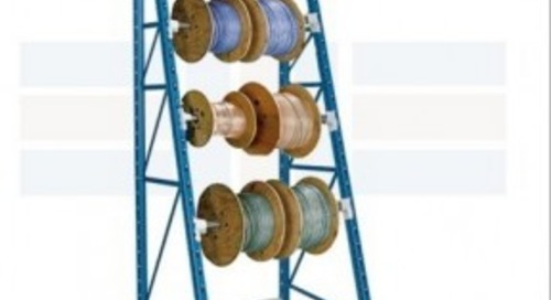 Store Rolled Cables & Reels on Wire Spool Storage Racks