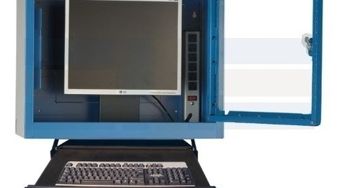 Dust-Free Computer Cabinets & Carts for Warehouses