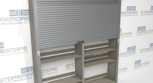 How Automatic Locking Doors Add Security to Storage Shelves
