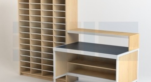 Modular Mailroom Furniture Sorter Kits & Casegoods