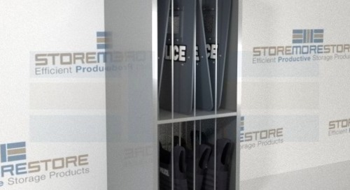 Riot Shield & Ballistic Vest Racks for Police Equipment Storage
