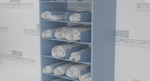 Rolled Plan Drawing Storage Cabinets & Counters