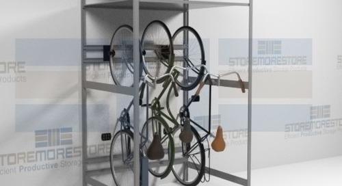Vertical Bike Racks & Hanging Shelves for Indoor Bicycle Storage