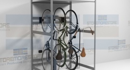 Vertical Bike Racks & Hanging Shelves for Indoor Bicycle Storage