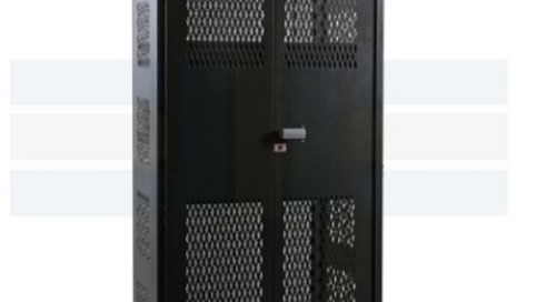 Vented Heavy-Duty Industrial Cabinet with Expanded Metal