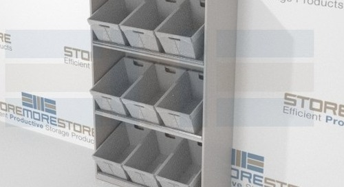 Bulk Mail Sorting Bins with Tilted Angle & Flat Shelving