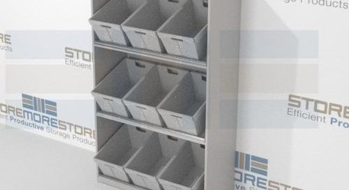 Bulk Mail Sorting Bins with Tilted Angle & Flat Shelving