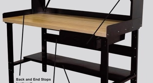 Industrial Workbenches with Adjustable Height & Storage Drawer