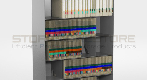 Slanted File Shelving Cabinets for End Tab & Color Coded Filing