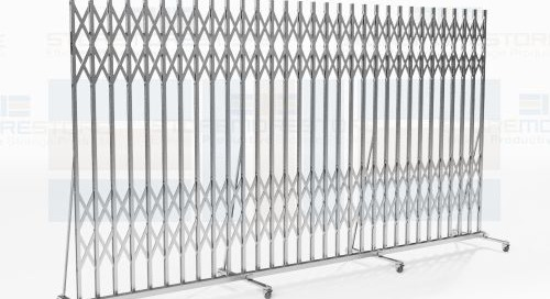 Portable Folding Security Gates for Building Hallways & Entrances