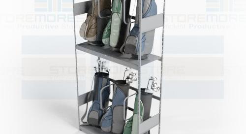 Golf Bag Organizer Racks for Multi-Tier Club Storage