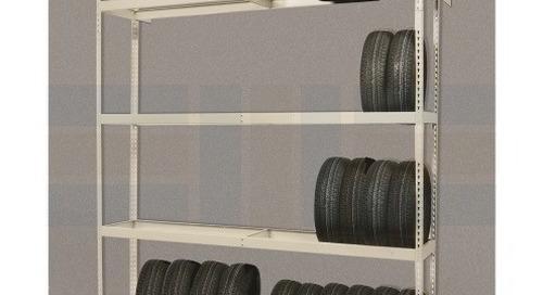 Tire Storage Display Racks & Freestanding Wheel Shelving