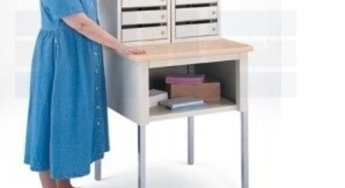Locking Mail Cubbies | Mailroom Slotted Sort Stations with Doors