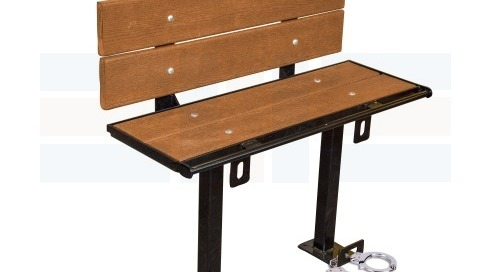 Prisoner Restraint Benches with Handcuff Rings for Detention Centers