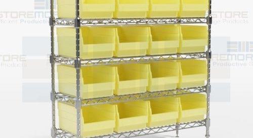Bin Wire Shelving Racks Small Parts Storage & Organization