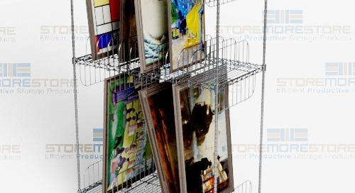Framed Artwork Storage Carts on Wheels | Canvas & Painting Transport