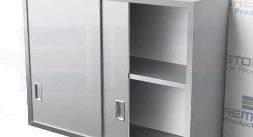Wall Hung Stainless Steel Commercial Quality Cabinets