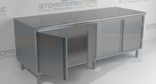 Stainless Steel Base Cabinets & Counter High Worktables