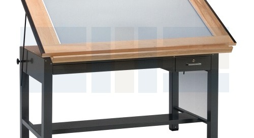 Drafting Worktable Furniture Desks with Built-In Lightboxes
