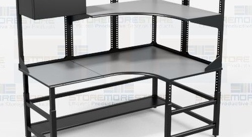 Technical Workstations with Overhead Storage & ESD Laminate