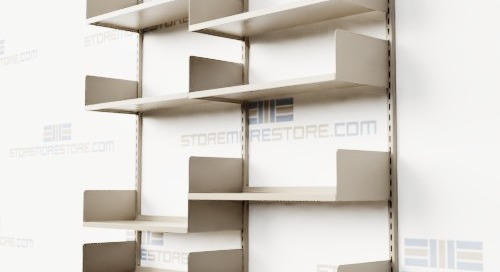Wall Mounted Shelving with Vertical Adjusting Steel Shelves