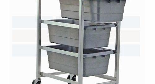 Mobile Bin Tote Carts | Plastic Tub Supply Storage Racks